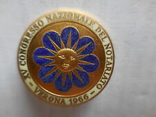 distintivo XV congresso naz Notariato Verona 1966