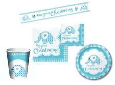 Decoración y menaje servilletas color principal azul para mesas de fiesta