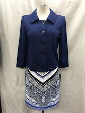 TAHARI SKIRT /NEW WITH TAG/LINED/RETAIL$119/COTTON/SIZE 2/BLAZER NOT INCLUDED