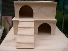 2 Storey Guinea Pig / Small Animal House / Hide - Twin hide & Ladder Combination