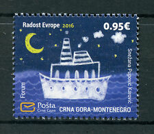 Montenegro 2016 MNH Joy of Europe 1v Set Boats Ships Moon Stamps