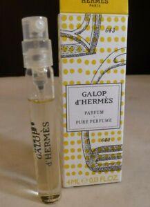 Authentic Hermes Galop d'Hermes Parfum Pure Perfum Manufacturer's Sample 4ml