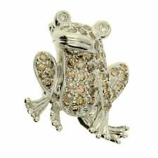 18ct White Gold Diamond Encrusted Frog Brooch 0.85ct - 5.0g
