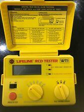 Wylex Lifeline Range RCD tester WT1 Rare Unused Boxed Case Strap