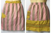 LOT OF 42 VTG 40'S 50'S 60'S Womens Aprons Matching Pink & Yellow Half 1/2 Apron