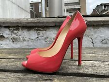 100% Authentic Pink CHRISTIAN LOUBOUTIN Sexy 120 Peep Toe Heels in size 36