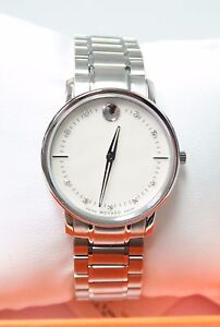 Movado Swiss Watch TC Thin Mother Of Pearl 9 Diamond Dial Bracelet 0606691 31033