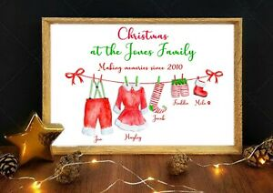 A4 Personalised Family Print Stocking Filler Gift Present Christmas Decoration