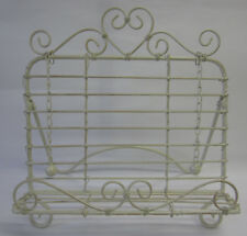 French Provincial Country Cream Recipe Book Stand Holder With Heart And Swirls