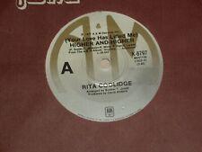"RITA COOLIDGE *RARE OZ  7""45 '  HIGHER AND HIGHER   ' 1977 VGC+"