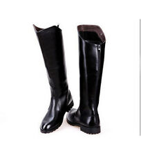 2020 Men PU Leather Knee High Equestrian Boots Riding Boots Military Boots Shoes