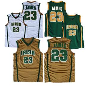 Retro Lebron St.VINCENT/St. MARYS HIGH SCHOOL IRISH Basketball JERSEY JAMES
