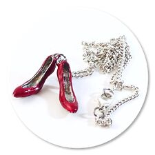 Wizard Of Oz Ruby Slippers charm necklace