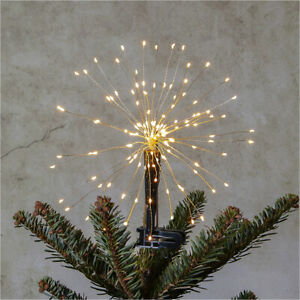"""LED Christbaumspitze """"FIREWORKS"""" Weihnachtsbaum-Spitze Baum-Spitze IP44 außen"""