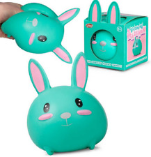 SQUISHKINS BUNNY - 37048 SQUISHY ANTI STRESS  BUNNY CUTE TURQUOISE SQUEEZE
