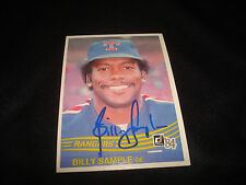 Billy Sample Rangers 1984 Donruss #403 Signed Authentic Autograph BAT Dinner
