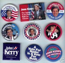 9 pins John KERRY 2004 Campaign pinback button