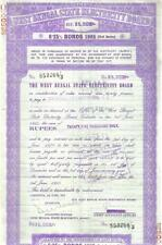 India West Bengal State Board 6.25% 1985 25.000 Rs bond