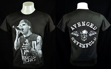 Dark T-Shirt M. Shadows vocal AV7 Indy Punk Rock Crew 100% Cotton Tee Size L