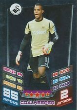 N°376 VORM SHOT-STOPPER SWANSEA CITY.FC TRADING CARD MATCH ATTAX TOPPS 2013