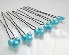 SALE 6 PCS Bridesmaid Prom Butterfly Turquoise Red Pink Crystal Hair Pins  H020