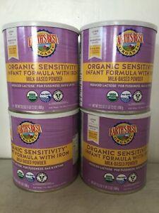 Earths Best Infant Formula 4 Pack Organic Sensitivity Powder 23.2oz Can 9/30/22