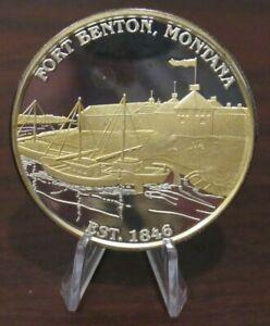 Fort Benton, Montana 2 Troy Oz .999 Silver Round - MT Northwest Territorial Mint