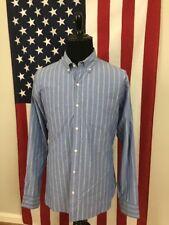 Bonobos Blue Striped Dress Shirt men's 2XL xxl Slim Fit Color Block Dress 7185