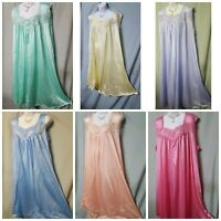 Woman Within Nightgown Pink Blue Green Purple Sleeveless  M L  1X  2X  3X 4X 5X