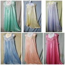 Woman Within Pink Blue Nightgown B3G1 FREE Sleeveless  M  L  1X  2X  3X 4X 5X