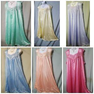 Woman Within Nightgown Pink Blue Green Purple Sleeveless  M L  1X  2X  3X 4X 5X