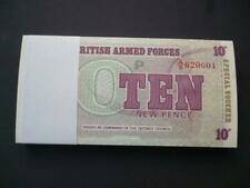 More details for bulk lot of military notes (special vouchers) 100 x 10p notes 6th series 1972