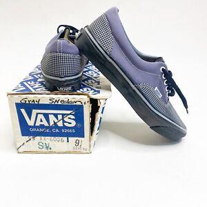 Vintage 80's NIB Deadstock Vans #5 Shoes Grey Sneakers Size 9.5 W/ Original Box