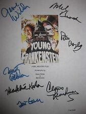 Young Frankenstein Signed script Mel Brooks Gene Wilder Boyle Kahn Garr reprint