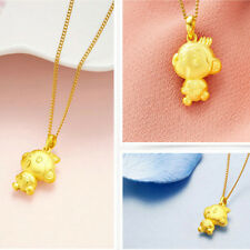 Women Gold Plated 3D Chinese Monkey Shaped Statement Chain Jewelry Necklace