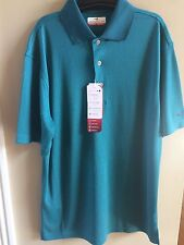 Grand Slam Golf Men's Small MotionFlow Teal Green DriFlow Wicking Polo Shirt NEW