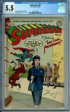 SUPERMAN 84 CGC 5.5 LOIS LANE POLICE NEW NON-CIRCULATED CASE Golden Age DC 1953