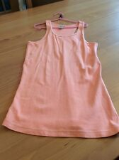 girls clothes 13-14 years Zara Orange Cotton Sleeveless Vest Top