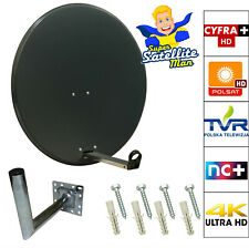 80cm Satellite Dish + Pole Mount & 250mm Wall Mount For Polsat, Telewizja,NC+ HD