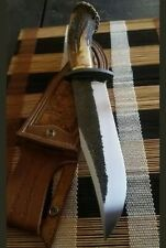 Custom Handmade 5160 Spring Steel 14 Inches Knife With Stag Horn Handle