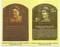 2014 HALL of FAME hof PLAQUE card LOT roberto CLEMENTE cancelled+1987 donruss as