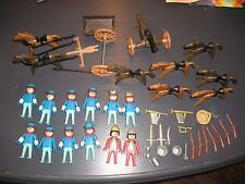 Lot Vintage Playmobile Geobra Western Knights Soldiers Horses Cannon Guns Parts