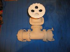 "NEW IN BOX LARGE EVER TITE THREE WAY 4"" QUICK CONNECT/DISCONNECT ""T"" VALVE WATER"