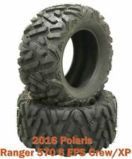 (2) 26x11R12 Radial ATV Rear Tire Set for 2016 Polaris Ranger 570 6 EPS Crew/XP
