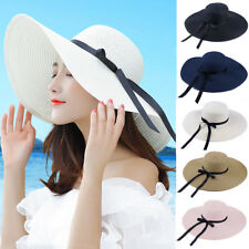 Hot Summer Floppy Straw Hat Women Ladies Wide Brim Beach Hat Sun Foldable  Cap c6a6a327e431