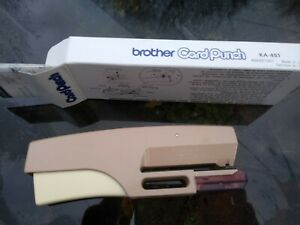 brother 24 stitch punchcard punch good used condition