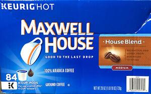 SALE! 84 Ct Maxwell House House Blend Keurig K-Cups Medium Roast Coffee