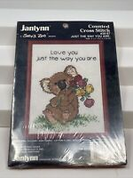 """Vtg 1986 Janlynn """"Suzy's Zoo"""" Cross Stitch Kit - Just the way you are #38-87"""