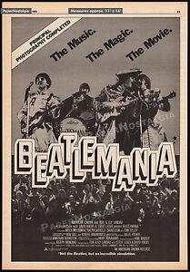 BEATLEMANIA: The Movie__Original 1981 Trade Print AD promo / poster__The Beatles