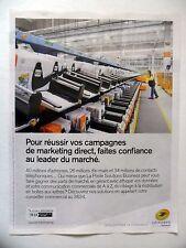 PUBLICITE-ADVERTISING :  LA POSTE Campagnes Marketing  2016 trieuse